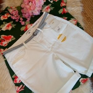 NWT Riders by Lee/ white denim shorts